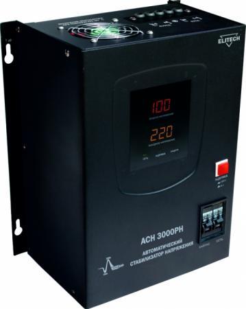 Стабилизатор ELITECH АСН 5000РН 5кВт 220В±10% 1ф 23А 12.4кг стабилизатор elitech асн 1500рн
