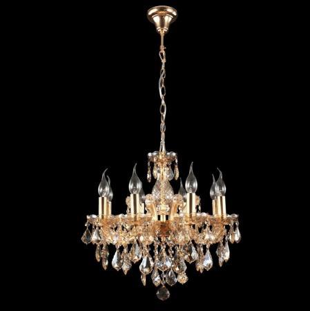Подвесная люстра Crystal Lux Ines SP8 Gold/Amber подвесная люстра crystal lux romeo sp10 gold d600