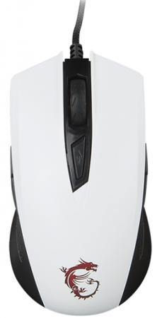 лучшая цена Мышь проводная MSI Clutch GM40 белый USB S12-0401370-D22