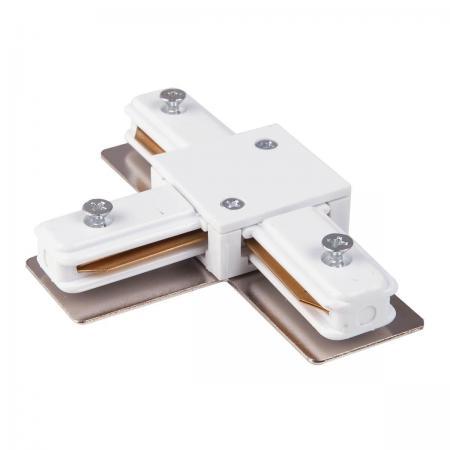 Коннектор Т-образный Elektrostandard TRC-1-1-T-WH 4690389112379 коннектор elektrostandart trc 1 1 l wh коннектор угловой для однофазного шинопровода белый