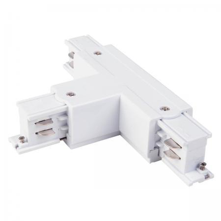 Коннектор Т-образный левый Elektrostandard TRC-1-3-TL-WH 4690389112492 ввод питания левый elektrostandard trp 1 3 l wh 4690389112683