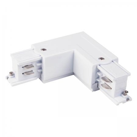 Коннектор угловой Elektrostandard TRC-1-3-L-WH 4690389112478 ввод питания левый elektrostandard trp 1 3 l wh 4690389112683
