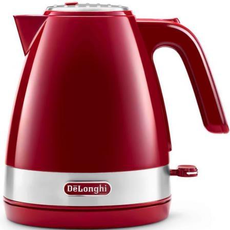 Чайник DeLonghi Delonghi KBLA 2000.R 2000 Вт красный 1 л пластик