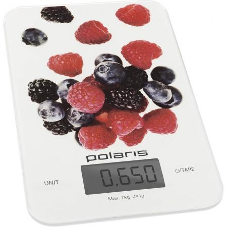 Весы кухонные Polaris Polaris PKS 0740DG белый рисунок polaris pch1575wr