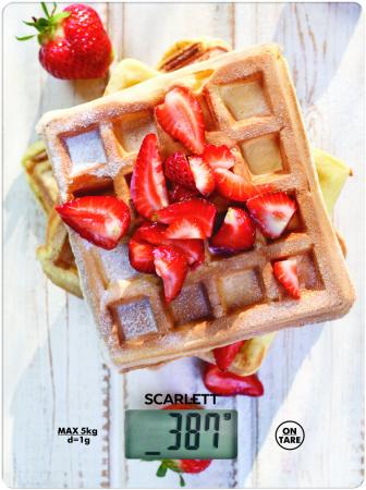 Весы кухонные Scarlett SC-KS57P16 рисунок кухонные весы scarlett sc ks57p38