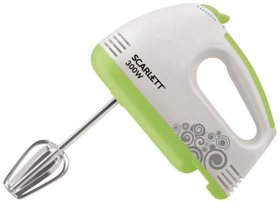 Миксер ручной Scarlett SC-HM40S05 200Вт белый/зеленый цена