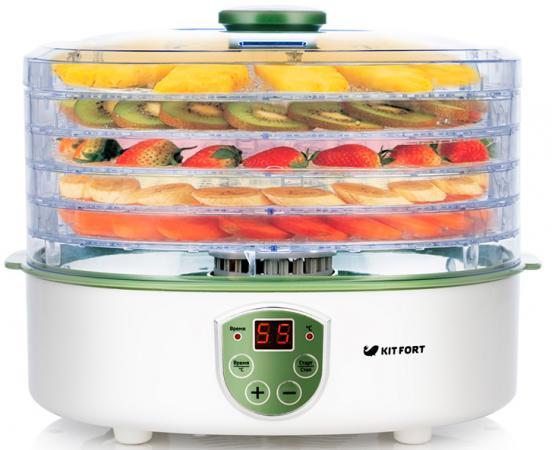 Сушка для фруKTов и овощей Kitfort KT-1902 5под. 250Вт белый сушка для овощей и фруктов sinbo sfd 7401 250вт белый