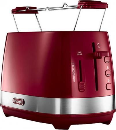 Тостер DeLonghi Active Line CTLA2103.R красный чайник delonghi kboe2001 r 2000вт 1 7л красный