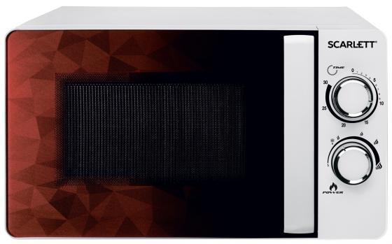 Микроволновая Печь Scarlett SC-MW9020S04M 20л. 700Вт белый/коричневый