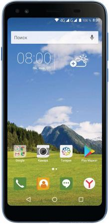Смартфон Philips S395 голубой 5.7 16 Гб LTE Wi-Fi GPS 3G CTS395BU/00 смартфон micromax q334 canvas magnus черный 5 4 гб wi fi gps 3g