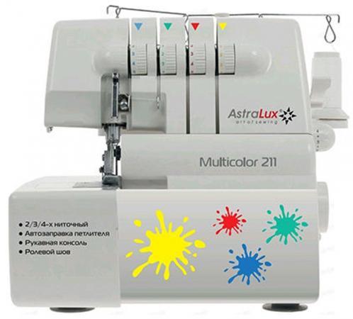 Оверлок Astralux Multicolor 211 белый astralux dc 8365