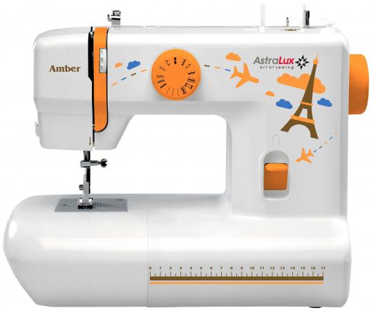 Швейная машина Astralux Amber белый/рисунок компьютеризированная швейная машина astralux 7150