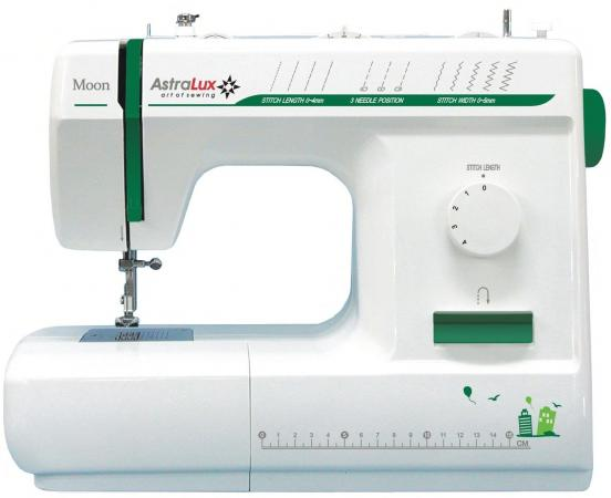 Швейная машина Astralux Moon белый/зеленый швейная машина astralux blue line i
