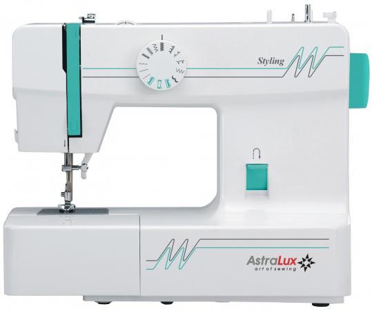 Швейная машина Astralux Styling белый/зеленый цена и фото