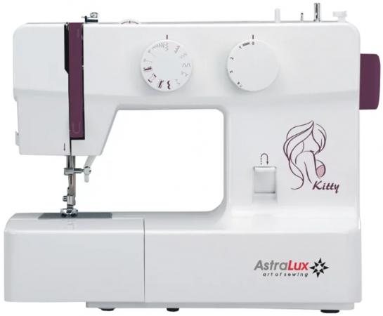 Швейная машина Astralux Kitty белый/рисунок швейная машина astralux blue line i