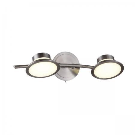 Светодиодный спот IDLamp Simonta 104/2A-LEDWhitechrome светильник спот id lamp simonta 104 1a ledwhitechrome