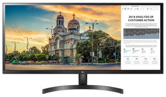 Монитор 34 LG 34WK500-P черный AH-IPS 2560x1080 250 cd/m^2 5 ms HDMI Аудио 34WK500-P.ARUZ монитор 27 lg 27mp68hm p черный ah ips 1920x1080 250 cd m^2 5 ms hdmi vga аудио