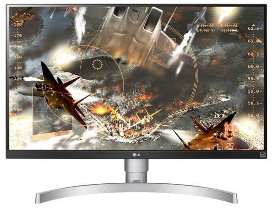"Монитор 27"" LG 27UK650-W белый AH-IPS 3840x2160 450 cd/m^2 5 ms HDMI DisplayPort Аудио 27UK650-W.ARUZ купить в Москве 2019"