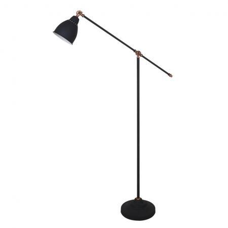 Торшер Arte Lamp Braccio A2054PN-1BK arte lamp торшер arte lamp braccio a2054pn 1wh