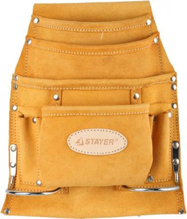 Сумка STAYER 38517 поясная professional для инструментов кожаная 10карманов 2скобы сумка stayer 38517