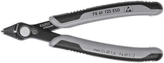 Бокорезы KNIPEX KN-7861125ESD для электроники Electronic Super Knips® ESD вороненые 125 mm инструмент для снятия изоляции knipex kn 1105160