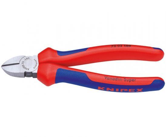 Бокорезы KNIPEX 7002160 160мм диагональные, ручки с двухцветными многокомпонентными чехлами бокорезы knipex kn 1426160