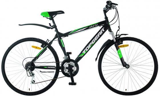 Велосипед двухколёсный Top Gear Jakarta 110 черно-зеленый ВН26315Н велосипед двухколёсный top gear delta 50 вн26247 26 черно синий
