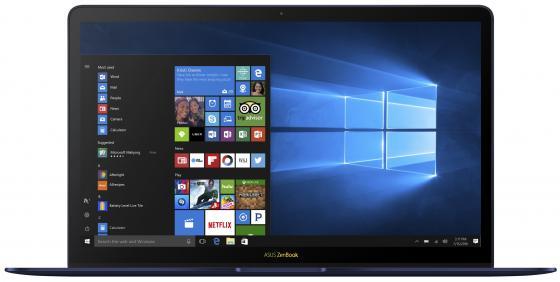 """Ультрабук ASUS Zenbook 3 Deluxe UX490UAR-BE082R 14"""" 1920x1080 Intel Core i7-8550U 1024 Gb 16Gb Intel UHD Graphics 620 синий Windows 10 Professional 90NB0EI1-M05080"""
