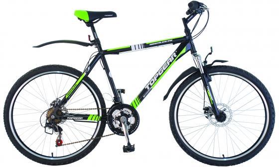 Велосипед двухколёсный Top Gear Adrenaline 215 18 черно-зеленый ВН26353Н велосипед geuther велосипед my runner серо зеленый