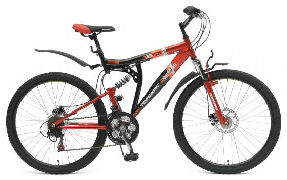 Велосипед двухколёсный Top Gear Shimano черно-красный ВН26388Н велосипед двухколёсный top gear delta 50 вн26247 26 черно синий