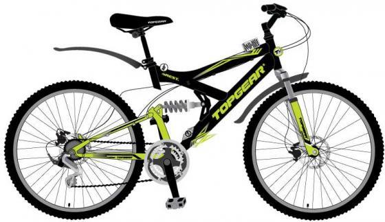 Велосипед двухколёсный Top Gear 4REST 225 черно-зеленый ВН26428Н велосипед двухколёсный top gear delta 50 вн26247 26 черно синий
