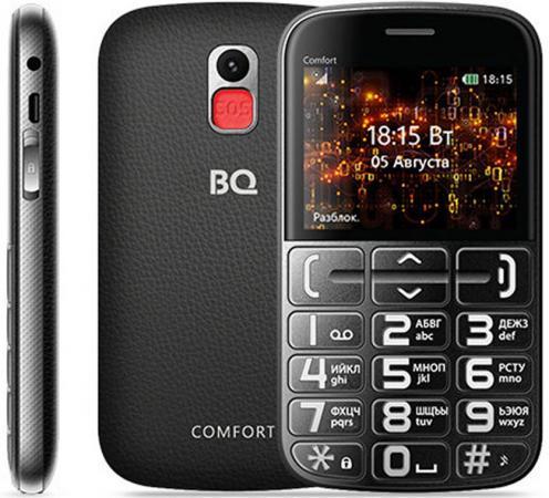 BQ 2441 Comfort Black/Silver Мобильный телефон телефон