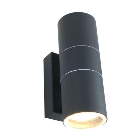 Уличный настенный светильник Arte Lamp Sonaglio A3302AL-2GY arte lamp настенный уличный светильник arte lamp sonaglio a3302al 2bk