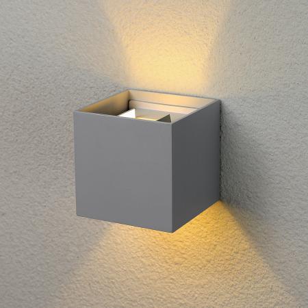 Уличный настенный светодиодный светильник Elektrostandard 1548 Techno LED Winner серый 4690389106262 настенный светильник kolarz austrolux barca 2295 62 5 ag