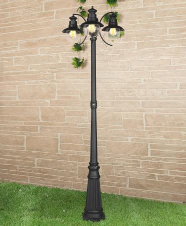 Садово-парковый cветильник Elektrostandard Talli F/3 GL 3002F/3 черный 4690389106637 elektrostandard светильник на столбе elektrostandard taurus f 3 малахит арт glxt 1458f 3 4690389065057