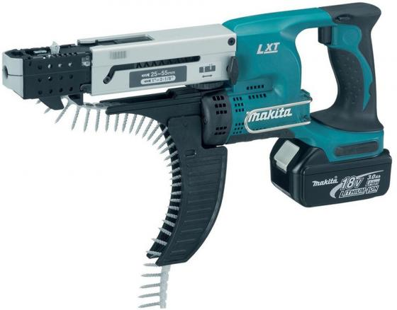 Шуруповерт аккумуляторный MAKITA DFR550RFE 18В 2х3Ач LI-ION 4000об/м 1/4 2.3кг кейс eleoption new 3000mah 18 volt li ion power tool battery for makita bl1830 bl1815 194230 4 lxt400