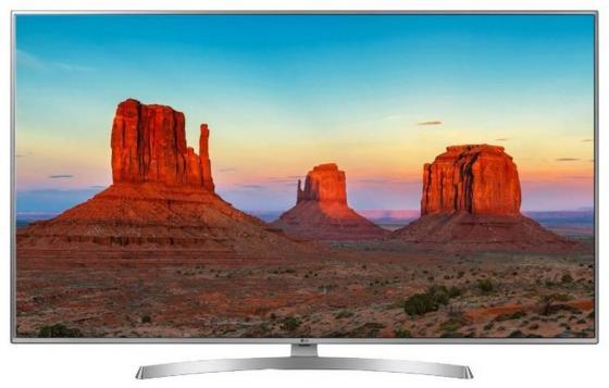 Телевизор 65 LG 65UK6710PLB серебристый черный 3840x2160 50 Гц Wi-Fi Smart TV RJ-45 Bluetooth телевизор 50 lg 50uk6710 4k uhd 3840x2160 smart tv usb hdmi bluetooth wi fi серебристый
