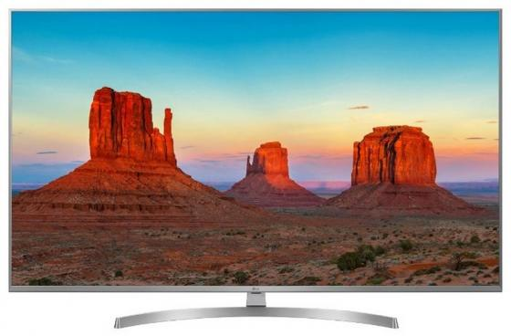 Телевизор 55 LG 55UK7500PLC серебристый 3840x2160 50 Гц Wi-Fi Smart TV RJ-45 Bluetooth телевизор 50 lg 50uk6710 4k uhd 3840x2160 smart tv usb hdmi bluetooth wi fi серебристый