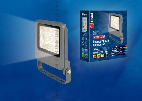 Прожектор светодиодный (UL-00002066) Uniel 20W 3000K ULF-F17-20W/WW цена