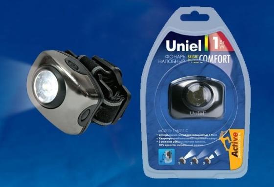 Фонарь (03212) Uniel Standart «Bright eyes — comfort» S-HL011-C Gun Metal uniel фонарь 07437 uniel standart crown of light 6 max s hl013 c silver