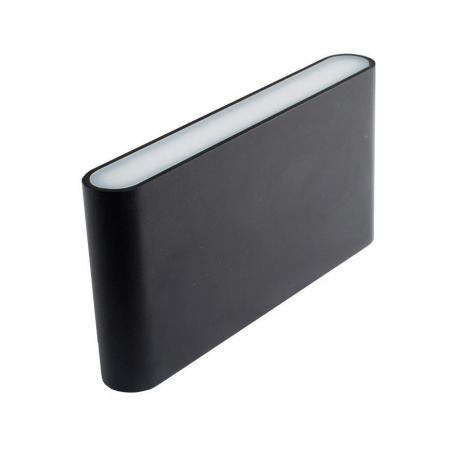 Уличный настенный светодиодный светильник Donolux DL18400/21WW-Black M Dim настенный уличный светильник donolux dl18405 21ww grey