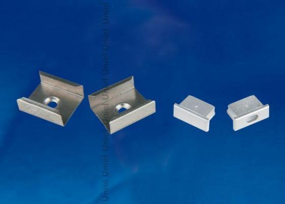 Набор аксессуаров для алюминиевого профиля (4 шт.) Uniel UFE-N02 Silver laete n02 119 4