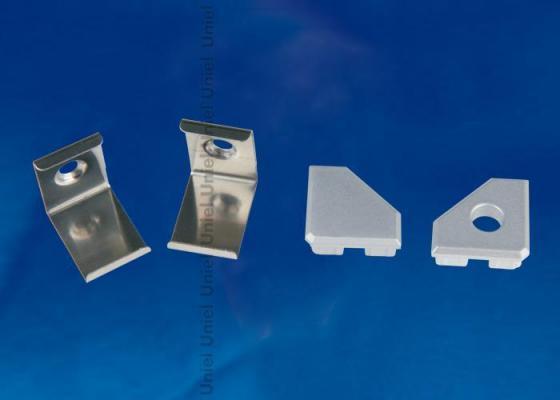 Набор аксессуаров для алюминиевого профиля (4 шт.) Uniel UFE-N03 Silver набор аксессуаров ul 00000622 uniel ufe n02 silver