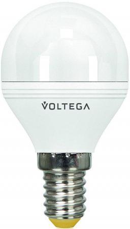 Лампа светодиодная шар Voltega 5494 E14 6W 4000K лампа светодиодная маяк b45 e14 6w 4000k шар матовый е14 аc 175 250v 6w