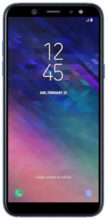 Смартфон Samsung Galaxy A6 2018 синий 5.6 32 Гб NFC LTE Wi-Fi GPS 3G SM-A600FZBNSER смартфон samsung galaxy a6 32 gb sm a 605 золотой
