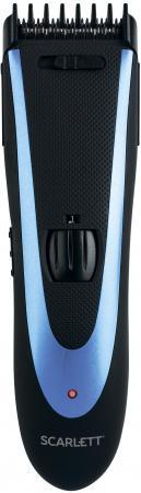 Машинка для стрижки Scarlett SC-HC63C59 черный/синий 8Вт (насадок в компл:4шт)