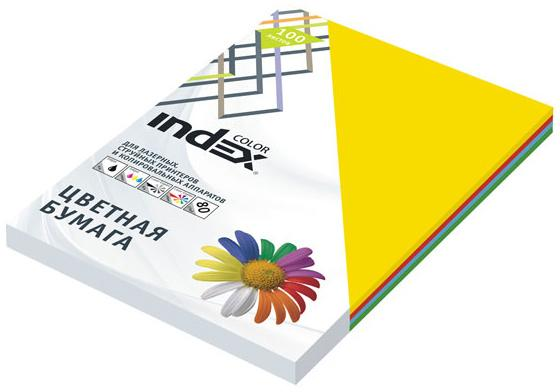 Цветная бумага Index Color IC58/100 A4 100 листов переплетчик gbc combbind 100 a4 перфорирует 9 листов сшивает 160 листов пластиковые пружины 6 19мм 4