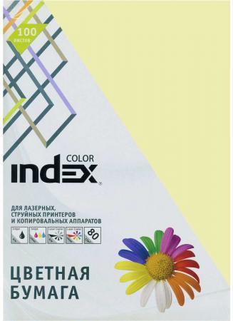Цветная бумага Index Color IC53/100 A4 100 листов бумага kris creative color a4 80g m2 100 листов pastel multicolor 110499