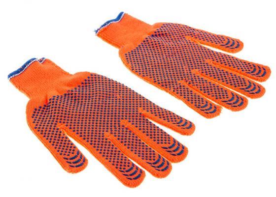 Перчатки утеплённые Hammer Flex 230-027 акрил/шерсть с ПВХ нанесением перчатки спилковые hammer 230 021