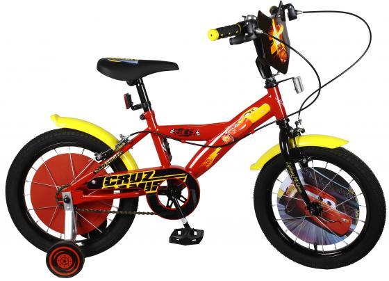 Велосипед двухколёсный Navigator DISNEY Тачки, красно-желтый ВН16123 самокат двухколёсный navigator супермэн wb красно синий т59568
